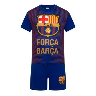 FC Barcelona Boys Sublimation Short Pyjamas Blue 4-5 Years