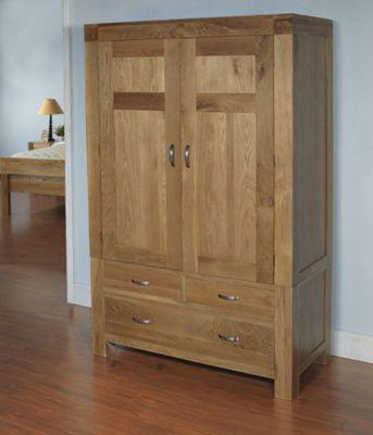 Rustic Grange Santana Blonde Oak Double Wardrobe