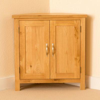 Newlyn Corner Cupboard - Light Oak