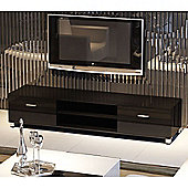 32 - 70 Inch LED/LCD/Plasma Glossy MDF TV Stand - Black