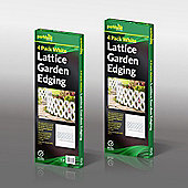 16 Pack Flexible Lattice White Garden Lawn Path Edging Border Fence Panel
