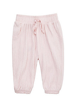 F&F Crinkled Cuffed Trousers - Pale Pink