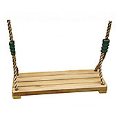 Complete wooden seat for adult swing set