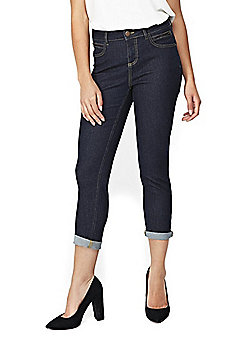 Wallis Petite Scarlet Roll Up Jeans - Indigo