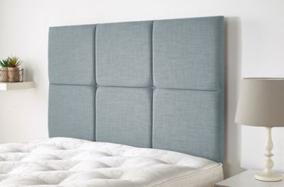 Calder headboard in Malham Weave Linen - Sky - (3ft)