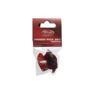 Stagg FPS-M Plastic Thumb and Finger Picks - Medium