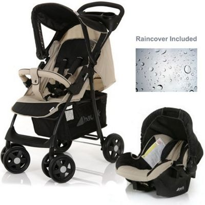 Hauck Shopper Shop N Drive Travel System, Almond/Caviar