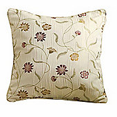 Homescapes Cream Filled Cushion Chintz Flowers 43 x 43 cm