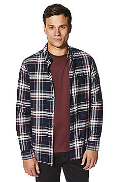 F&F Checked Shirt and T-Shirt Set - Navy