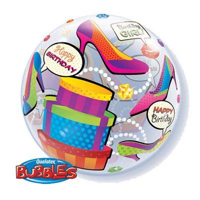 Birthday Girl Shopping Spree Bubble Balloon - 22inch
