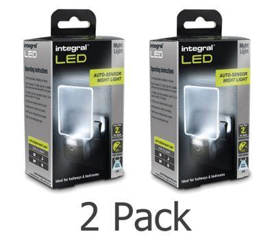 Integral Auto Sensor LED Night Light (2 Pack)