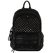 Queen of Darkness PU Leather Studded Black Backpack 22x29x15cm