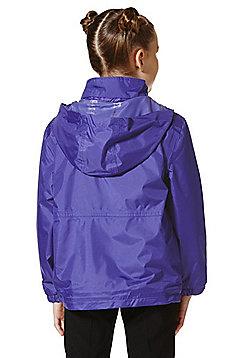 Unisex Embroidered Reversible School Fleece Jacket - Purple
