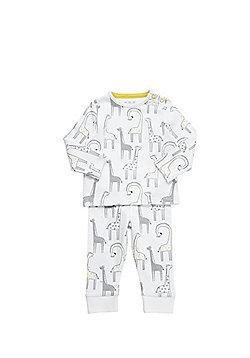F&F Giraffe Print Twosie Pyjamas - White