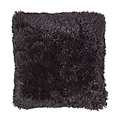 Catherine Lansfield Designer Cuddly Cushion Cover - Black