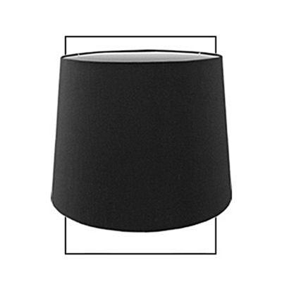 Black Faux Silk 15 inch Drum Shade