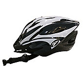 Coyote Sierra Dial Fit Adult Cycling Helmet Large White