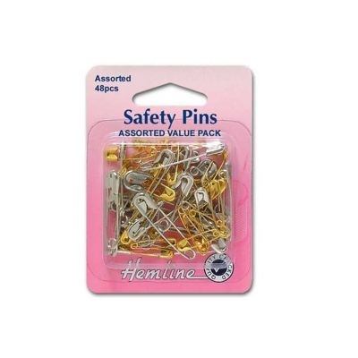 Hemline Safety Pins Assorted Value Pack