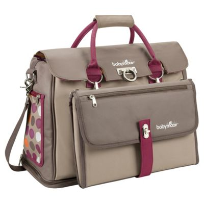 Babymoov Maternity Changing Bag, Taupe/Hibiscus