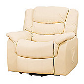 Sofa Collection Victoria Riser Recliner with Massage and Heat Function - Cream