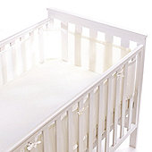 BreathableBaby 4 Sided Mesh Cot Liner (White) - White