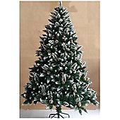 Bavaria 8ft Snow Flocked And Pine Cones Christmas Tree