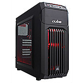 Cube Ryzen 5 1400 Esport/Streamer Gaming PC 8GB 1TB RX 460 4GB WIFI Win 10