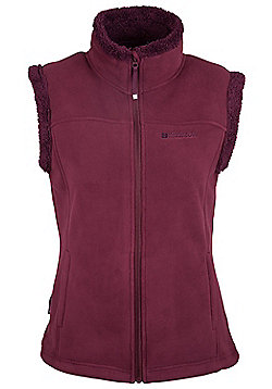 Mountain Warehouse Comet Fur Lined Womens Gilet - Red