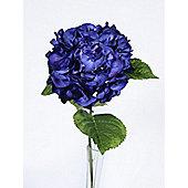 Artificial - Hydrangea Stem - Dark Blue