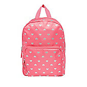 F&F Heart Print Mini Backpack