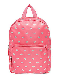 F&F Heart Print Mini Backpack