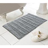 Luxe Bathroom Madison Bath Mat, Grey