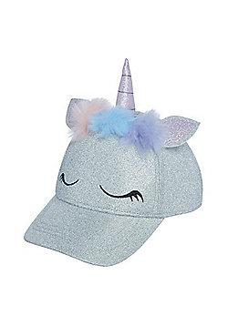 F&F Unicorn Pom Pom Cap - Silver
