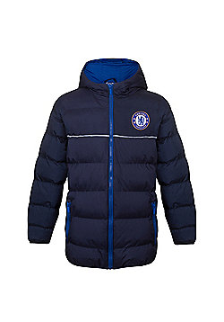 Chelsea FC Boys Quilted Jacket - Navy