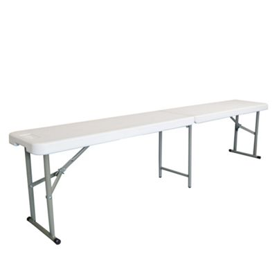 4 Person Folding Plastic Picnic / Camping Bench - 250kg Capacity - 6ft (180cm)