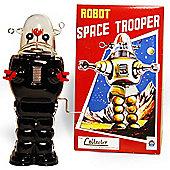 Robot Clockwork - Retro Tin Collectable Ornament - Black