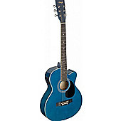 Stagg Auditorium Electro-Acoustic Guitar - Blue