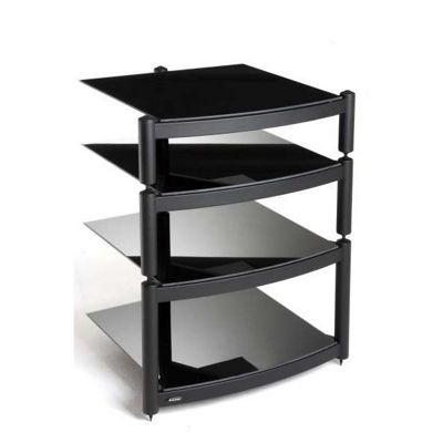 Atacama Equinox 4 shelf Hi-Fi stand in Black
