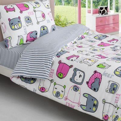 Animal Faces Single Bedding - 100% Cotton