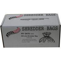 Safewrap Shredder Bag 200 Litre Pack of 50 RY0473