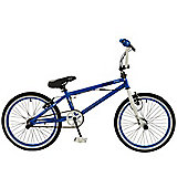 "Zombie Spike 20"" Wheel 360 Gyro Freestyle BMX Bike Blue"