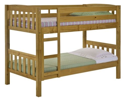 Verona America Kids Bunk Bed Frame - Single - Antique Lacquer