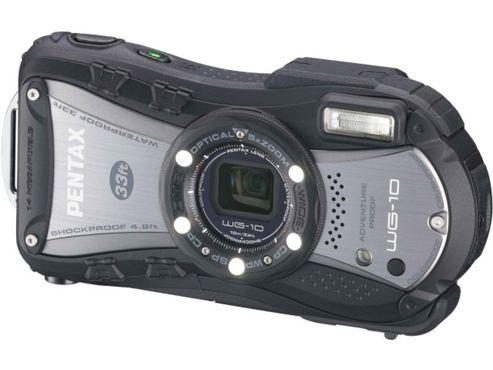 Pentax Optio WG-10 Camera Black 14MP 5xZoom 3.0LCD Wtprf