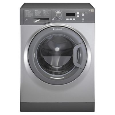 Hotpoint Aquarius Washing Machine, WMAQF621G, 6KG Load, Graphite