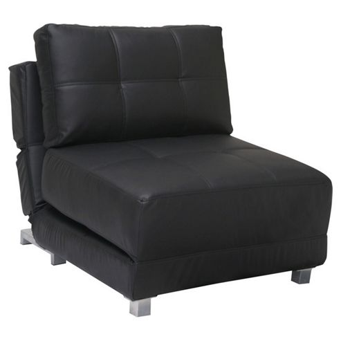 Leader Lifestyle Rita Chair Bed - Luxurious Black Leather