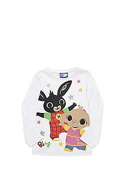 CBeebies Bing Bunny Long Sleeve T-Shirt - White