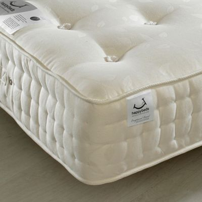 Happy Beds Jewel 2000 Pocket Spring Orthopaedic Natural FIllings Mattress - 2ft6 Small Single