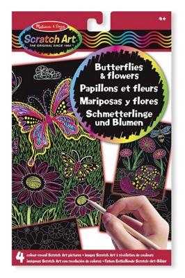 Scratch Art - Colour Reveal - Butterflies & Flowers