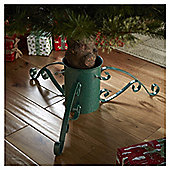"6"" Green Metallic Christmas Tree Stand"