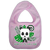 Dirty Fingers Panda to my every need Baby Cute Bib Pink